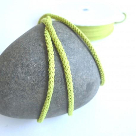 Cordon tricoté Vert anis