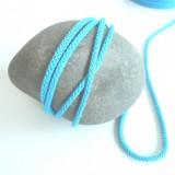 Cordon tricoté turquoise