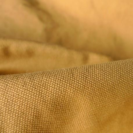 Toile cotton Military moutarde