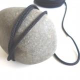 Cordon tricoté noir