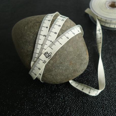 Gros grain mètre ruban écru