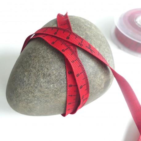 Gros grain mètre ruban rouge