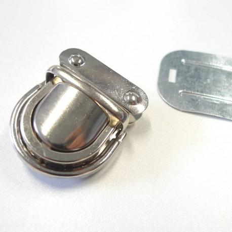 Fermoir cartable nickel