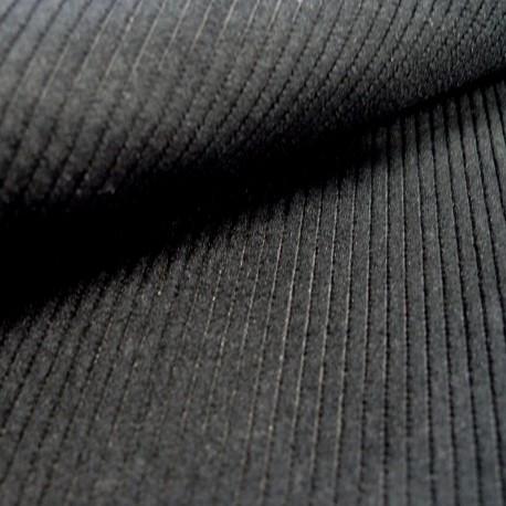Tissu velours côtelé STARSKY noir