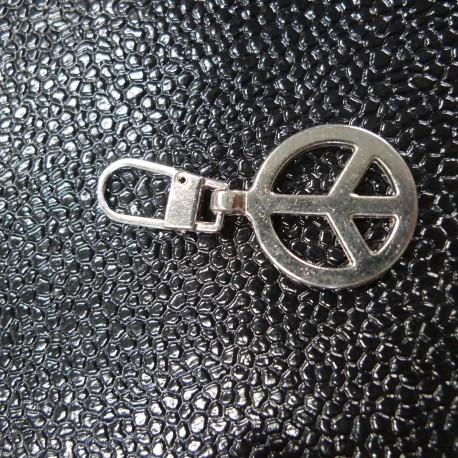 Tirette zip Peace and Love