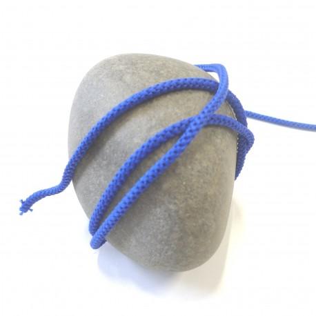 Cordon tricoté bleu roi