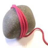 Cordon tricoté fuchsia