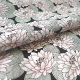 Tissu Nénuphar rose