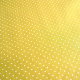 Tissu jaune mini pois