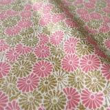 Tissu Ombrelles rose et or