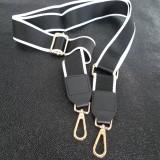 Bandoulière de sac noir et blanc or