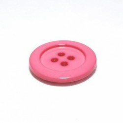 Bouton dragée rose 23 mm