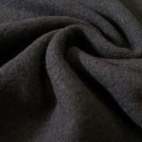 Tissu laine bouillie noire