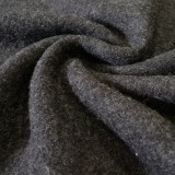Tissu laine bouillie anthracite