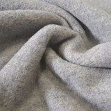 Tissu laine bouillie gris clair