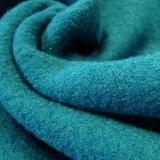 Tissu laine bouillie canard