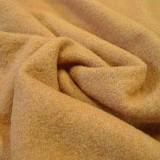 Tissu laine bouillie safran