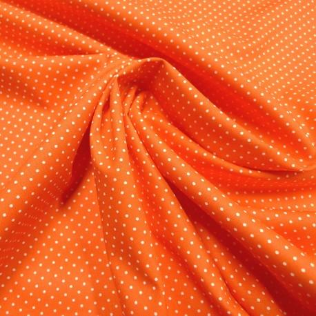Tissu orange mini pois