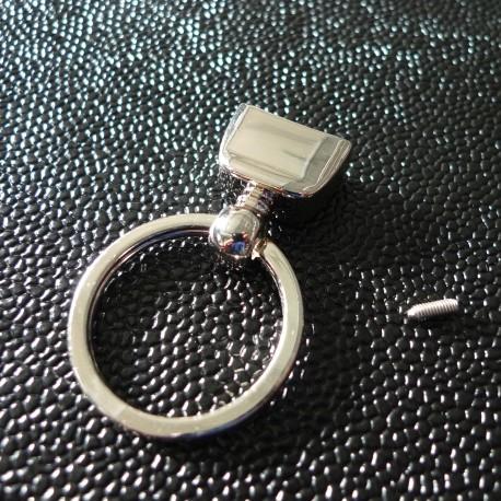 Porte-clés pompon nickel