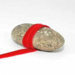 Ruban velours rouge 9 mm