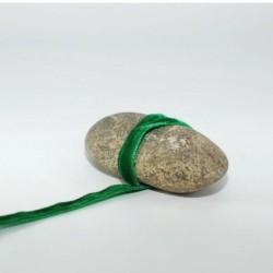 Ruban velours vert 9 mm