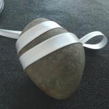 Biais satin gris perle