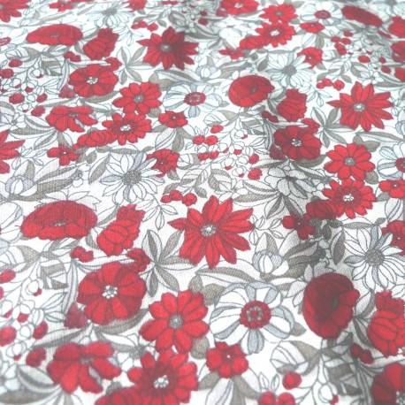 Tissu Apolline Rouge