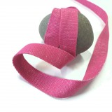 Sangle lurex argent fuchsia