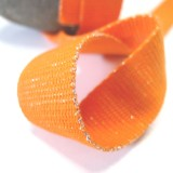 Sangle lurex argent orange