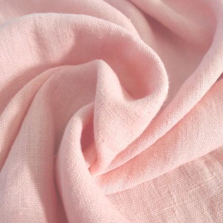 Lin lavé rose Blush