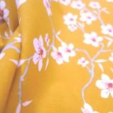 Tissu Amaretto moutarde