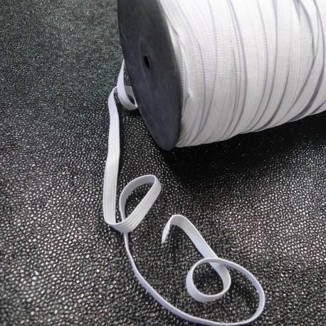Bobine 200 m Elastique 7 mm blanc