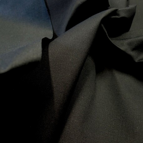 Toile Organic coton enduit noir