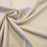 Tissu coton petits pois beige
