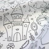 Tissu à colorier Conte de fées