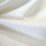 Toile Filigrane blanc lurex or