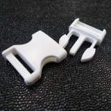 Boucle clip blanc 30 mm