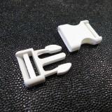 Boucle clip blanc 25 mm