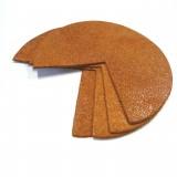 Coins de sacs cuir caramel