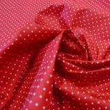 Enduit coton rouge mini pois