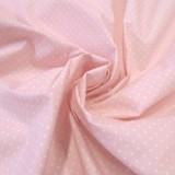 Enduit coton rose mini pois
