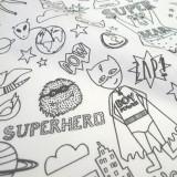 """Tissu à colorier """"Superhéro"""""""