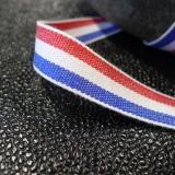 Ruban coton tricolore français