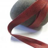 Biais faux cuir vieilli rouge