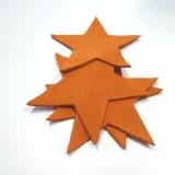Etoile cuir orange brûlée