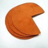 Coins de sacs cuir orange brûlée