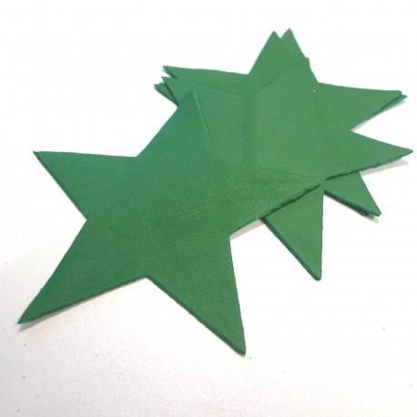 Etoile cuir vert