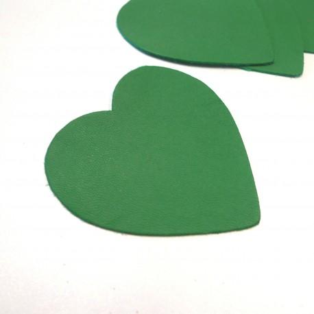 Coeur cuir vert
