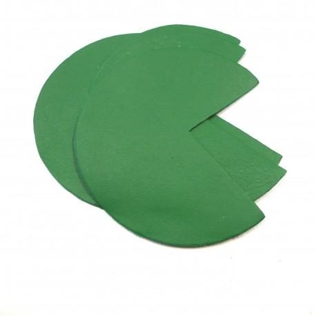 Coins de sacs cuir vert