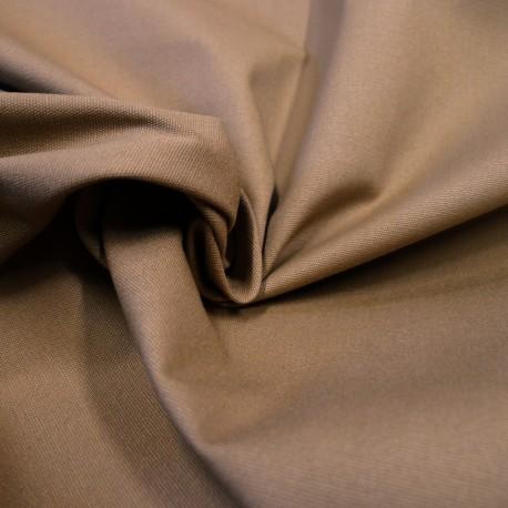 Toile Organic coton enduit camel